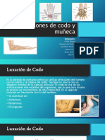 Lesiones de Codo y Muñeca Ortopedica