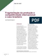 RBCE_115_Fragmentação Da Produção e Competitividade Internacional o Caso Brasileiro