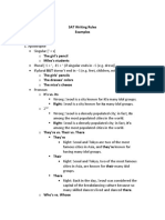 SAT Grammar Examples