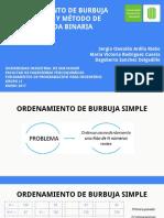 Ordenamiento de Burbuja Mejorado y Método de Búsqueda Binaria