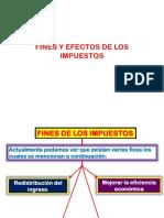 Fines y Efectos de Los Impuestos