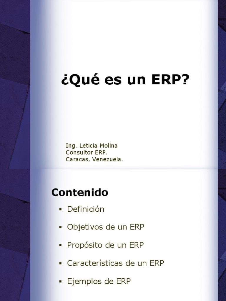 Ejemplos de ERP