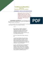 Medida Provisória No 2.166-67, De 24 de Agosto de 2001.