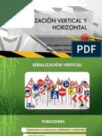 Señalización vertical y horizontal