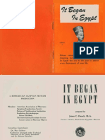 It Began in Egypt, Series A (AMORC)
