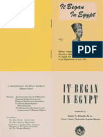 It Began in Egypt, Series B (AMORC)