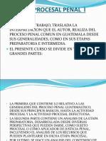 1era Clase Derecho Procesal Penal i