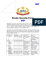 Border Security Force Recruitment Notification