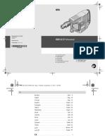 Manual Demoledor Bosch GSH 11e