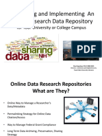Developing and Implementing an Online Research Data Repository