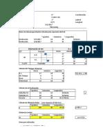 Cálculo de Sets 20 y 21 Azimut y Altura