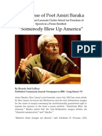 In Defense of Poet Amiri Baraka
