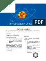 Introducción a La Química 1.- Modelos Atómicos