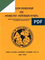 Revista Peruana de Derecho Internacional. Tomo II Octubre -Noviembre-Diciembre 1942 N°6