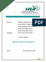 Tarea de Equipo 2 Manual de Redacción Empresarial