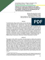 A CONSTRUÇÃO DO GRAU DE EVIDÊNCIA DA AÇÃO SUBJETIVAMENTE VISADA CONCEBIDA INTELECTUALMENTE POR MEIO DOS PADRÕES TEÓRICOS DE DELIBERAÇÃO NA METODOLOGIA WEBERIANA