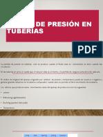 Caidas de Presion en Tuberias,Disparos y Fluidos de Terminacion