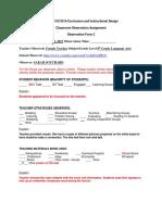 classroom observation assignment-form 2  1