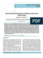 Environmental Production of Fashion Colors From