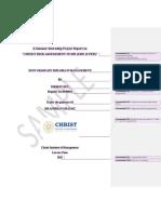 SIP- Research Report _Template_ CIM- 2017