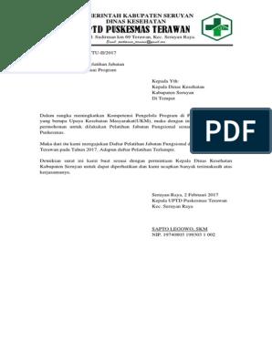 Surat Permohona Pelatihan Ke Dinas Kesehatan