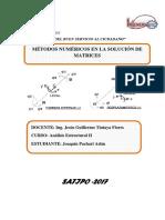Metodos en La Solucion de Matrices