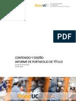 Informe Profesional Proyecto Portafolio Construcción