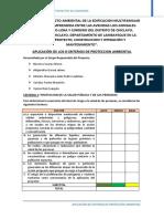 AplicAcion de Los 8 Criterios de Proteccion AmbientAl