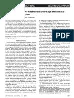 Assessment of Post-Restrained Shrinkage Mechanical
