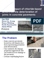 Potential Impact of Chloride-based Deicers on the Deterioration of Joints in Concrete Pavements