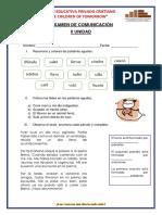 Examen de Comunicación