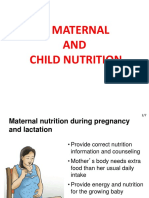 3. Maternal and Child Nutrition