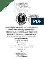 """""""EFECTO IDPOTENSOR DEL EXTRACTO METANÓLICO DE LA PIEL DE PAPA """"LOMO NEGRO"""" Solanum tuberosum L. (SOLANACEAE, NATIVA DEL PERÚ) POR INHIBICIÓN DE LA ENZIMA CONVERTIDORA DE ANGIOTENSINA EN RATAS CON HIPERTENSIÓN EXPERIMENTAL Y NORMOTENSAS"""