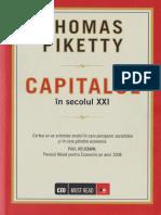 Thomas Piketty-Capitalul in Secolul Al XXI-lea-Editura Litera ( Mai 2015)