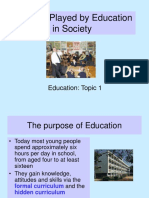 Marxist and Functionalist Theory of Ed