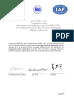 Joint ISO IEC 17025 Communique 2017finalsigned