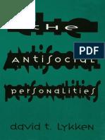 David T. Lykken-The Antisocial Personalities-Psychology Press (1995)