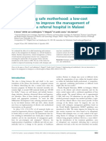 A Low-costintervention to Improve the Management Ofeclamp Sia