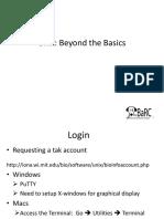 Unix Beyond Basics