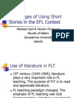 Advantanges of Using Short Stories in the ELTl