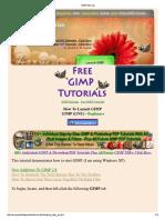 1. How to Start GIMP