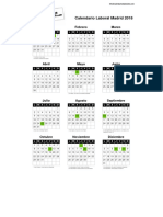 Calendario Laboral Madrid 2018