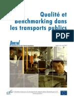 Qualité Et Bechemarking Dans Le Transport Publics
