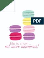 freeprintable macarons