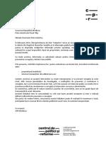 Adresare Prim Ministru P. Filip CPR Moldova