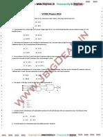 Viteee Physics 2014