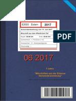 Eslarner Gemeinderatssitzungen, Mitschrift vom 13.06.2017