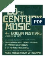 Dublin Festival of Twentieth Century Music (1972)