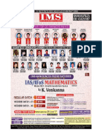 UPSC IAS IFoS Mathematics Optional Coaching Details