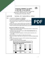 Bet Question Paper 2008